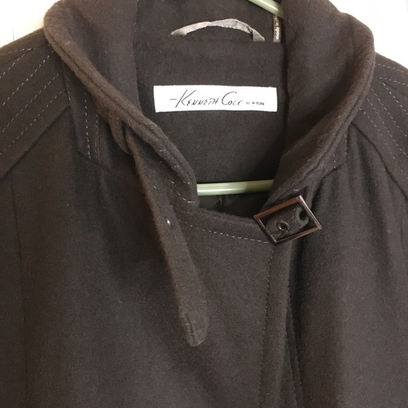 Kenneth Cole Men's Lined Wool Coat W Ample Pockets